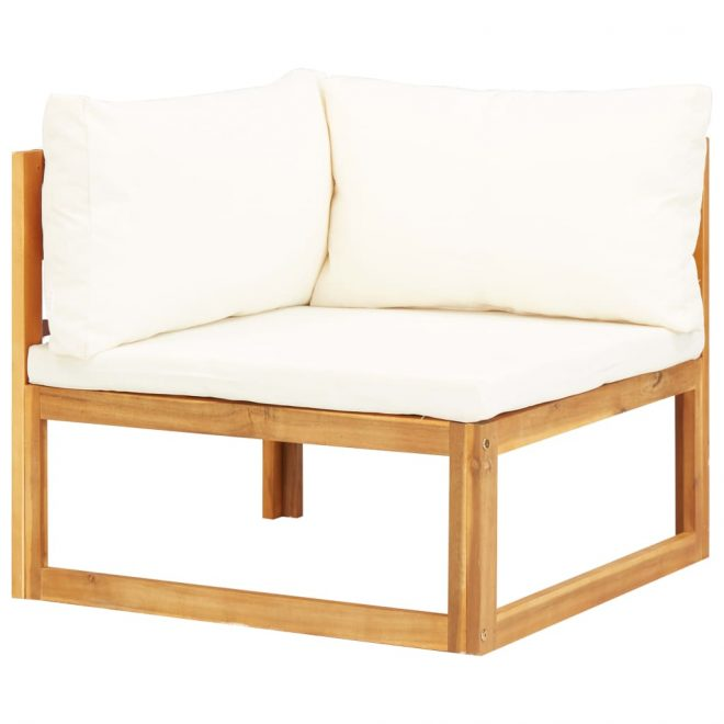 6 Piece Garden Lounge Set with Cushions Solid Acacia Wood 4