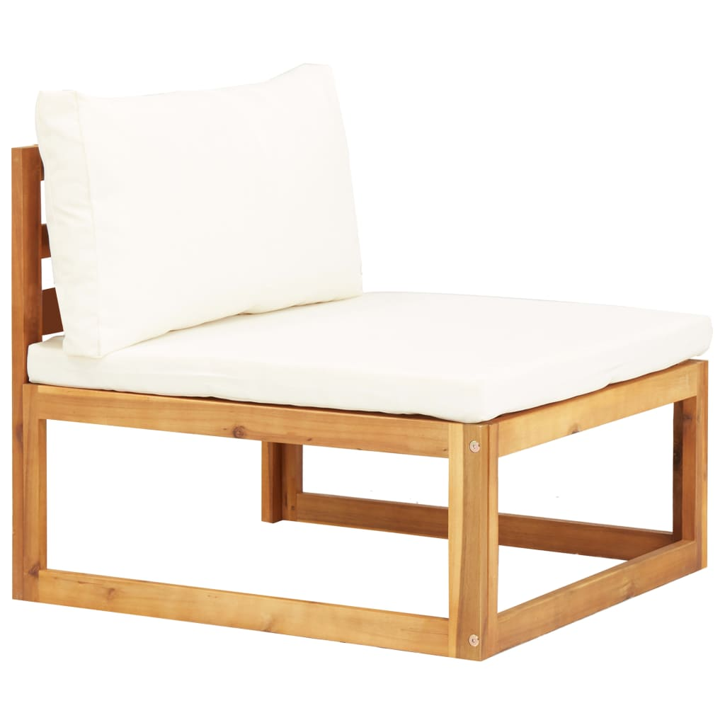 6 Piece Garden Lounge Set with Cushions Solid Acacia Wood 6