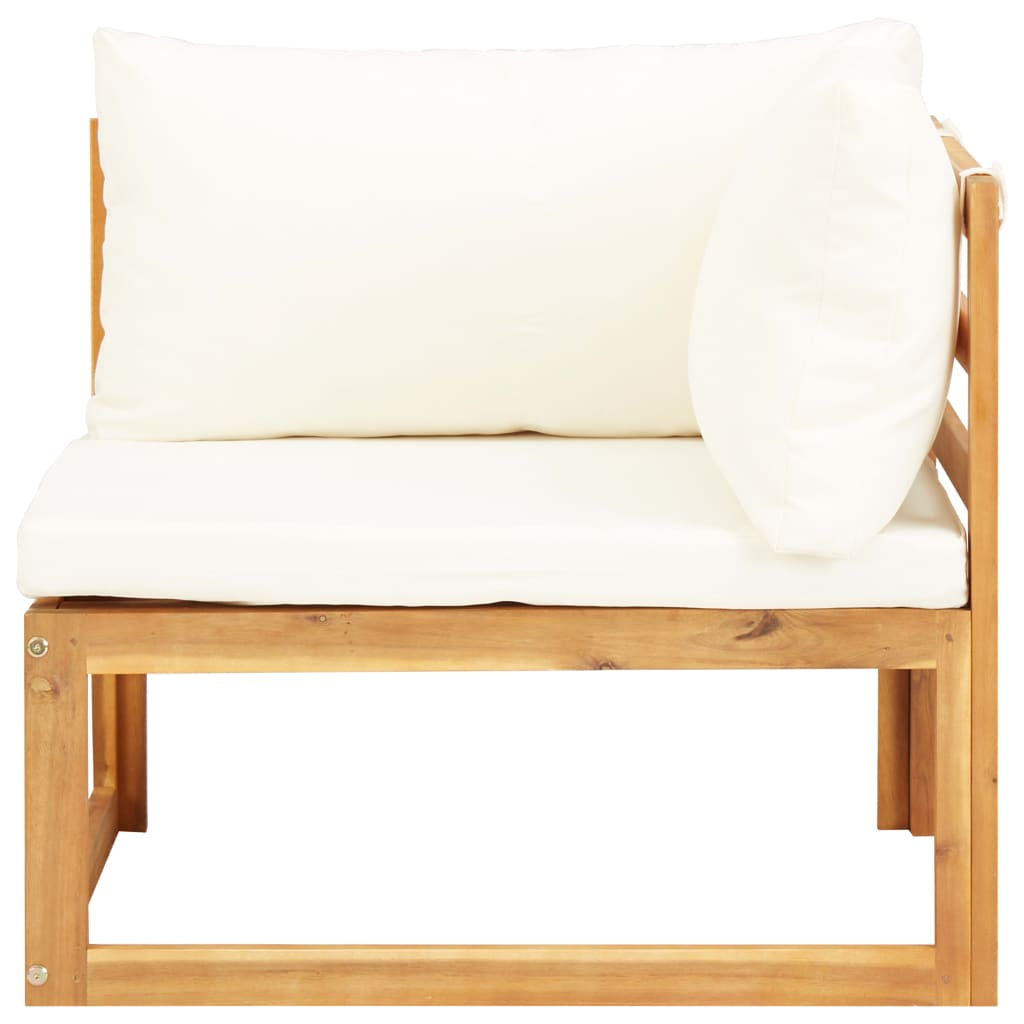 5 Piece Garden Lounge Set with Cushions Solid Acacia Wood 5
