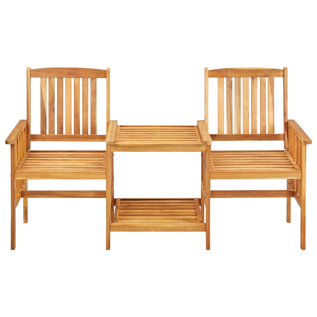 Garden Chairs with Tea Table 159x61x92 cm Solid Acacia Wood 2