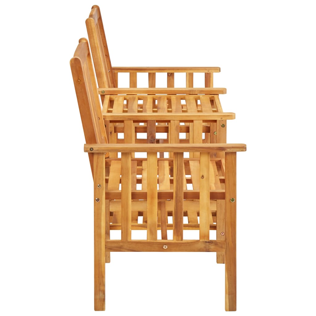 Garden Chairs with Tea Table 159x61x92 cm Solid Acacia Wood 3