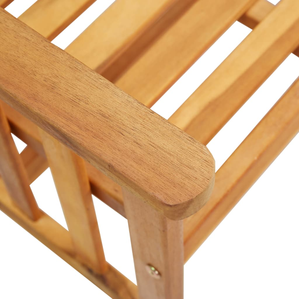 Garden Chairs with Tea Table 159x61x92 cm Solid Acacia Wood 5