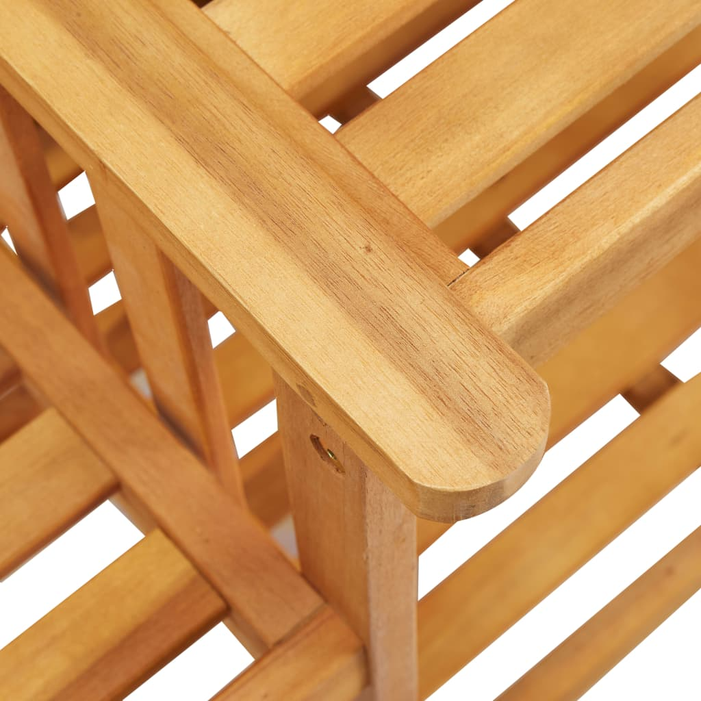 Garden Chairs with Tea Table 159x61x92 cm Solid Acacia Wood 6