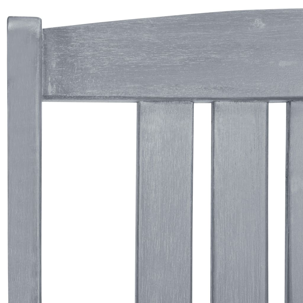 Garden Chairs 2 pcs Grey Solid Acacia Wood 7