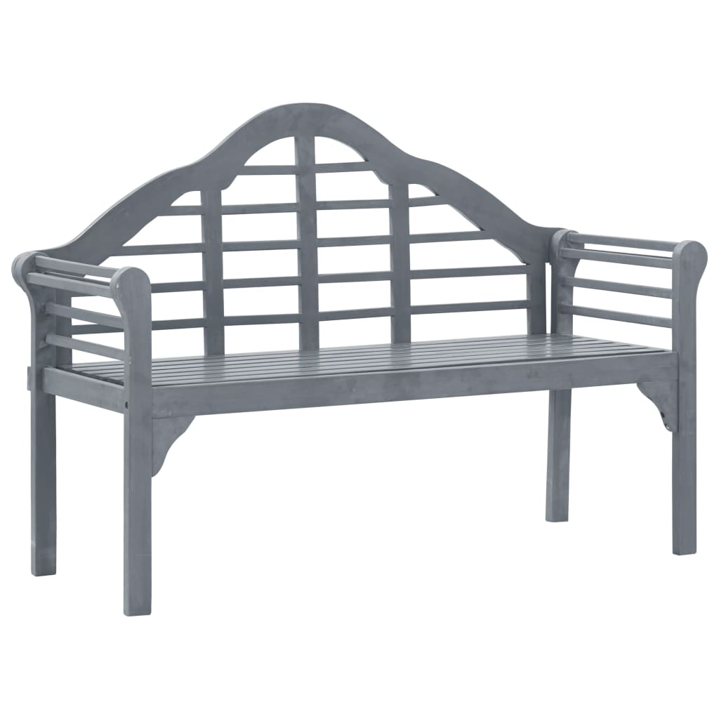 Garden Bench Grey Wash 135 cm Solid Acacia Wood 1