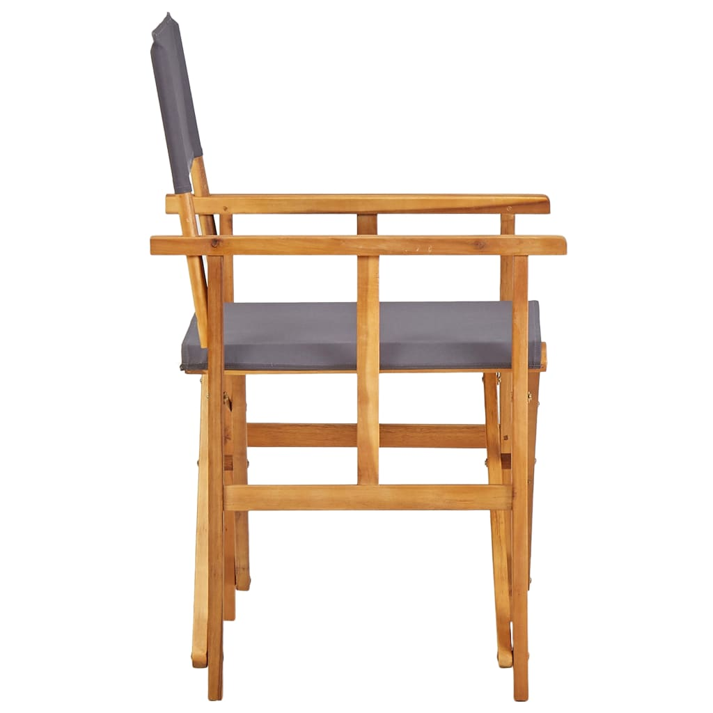 Director's Chairs 2 pcs Solid Acacia Wood 4