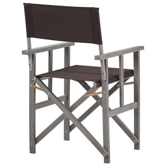 Director's Chairs 2 pcs Solid Acacia Wood 5