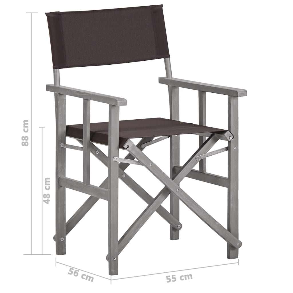 Director's Chairs Solid Acacia Wood 7