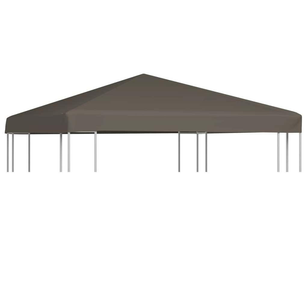 Gazebo Top Cover 310 g/m² 3×3 m Taupe 1