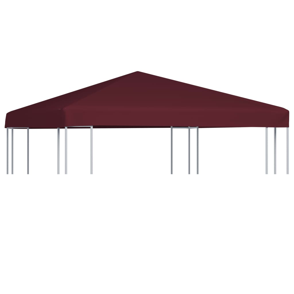 Gazebo Top Cover 310 g/m² 3x3 m Bordeaux