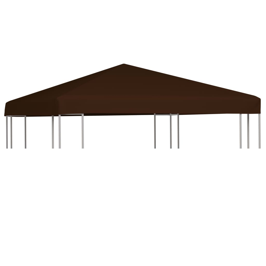 Gazebo Top Cover 310 g/m² 3×3 m Brown 1