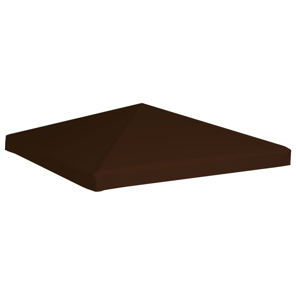 Gazebo Top Cover 310 g/m² 3×3 m Brown 4