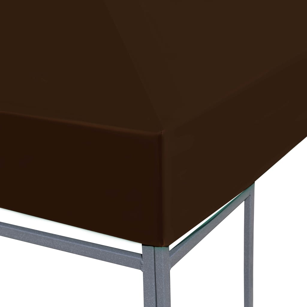 Gazebo Top Cover 310 g/m² 3×3 m Brown 5