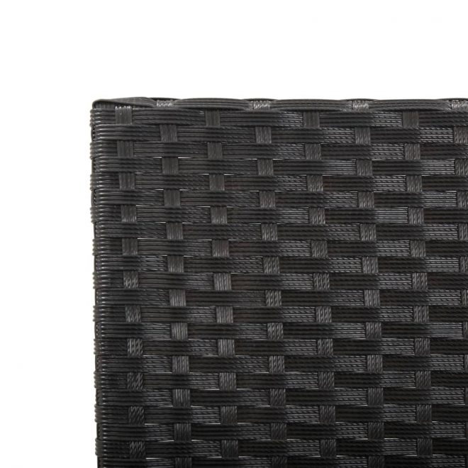 Garden Bench with Cushions 176 cm Black Poly Rattan 8