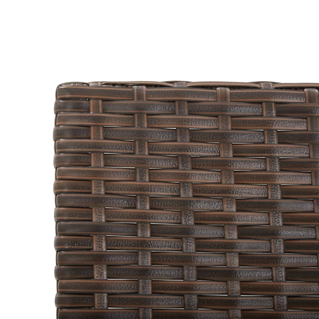 Garden Bench with Cushions 176 cm Brown Poly Rattan 8