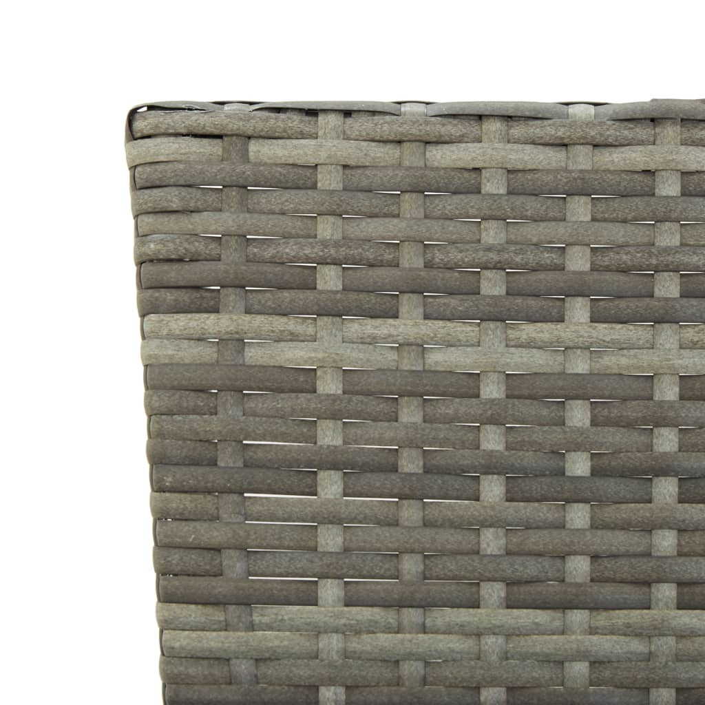 Garden Bench with Cushions 176 cm Grey Poly Rattan 8