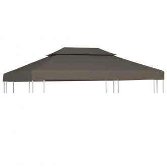 2-Tier Gazebo Top Cover 310 g/m? 4×3 m Taupe 1