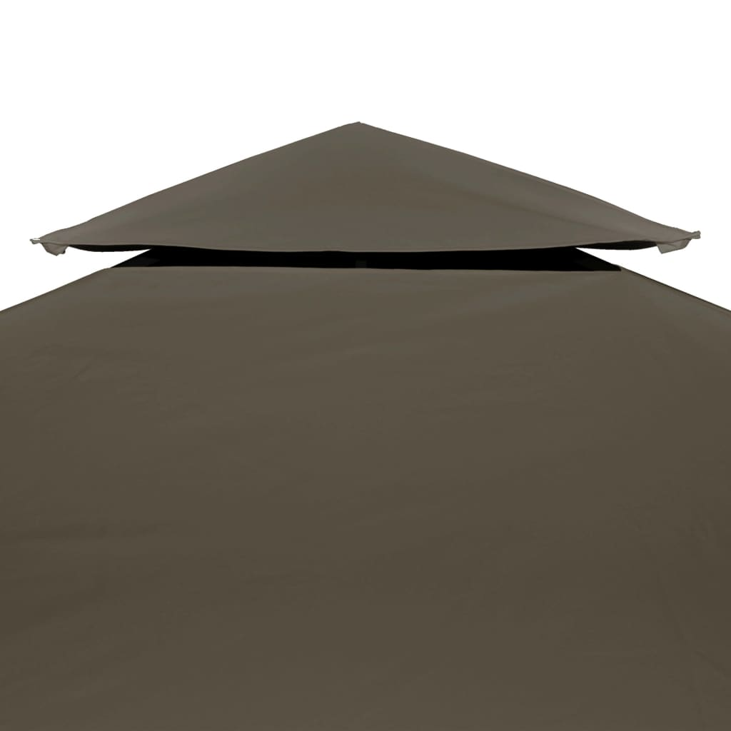 2-Tier Gazebo Top Cover 310 g/m? 4×3 m Taupe 4