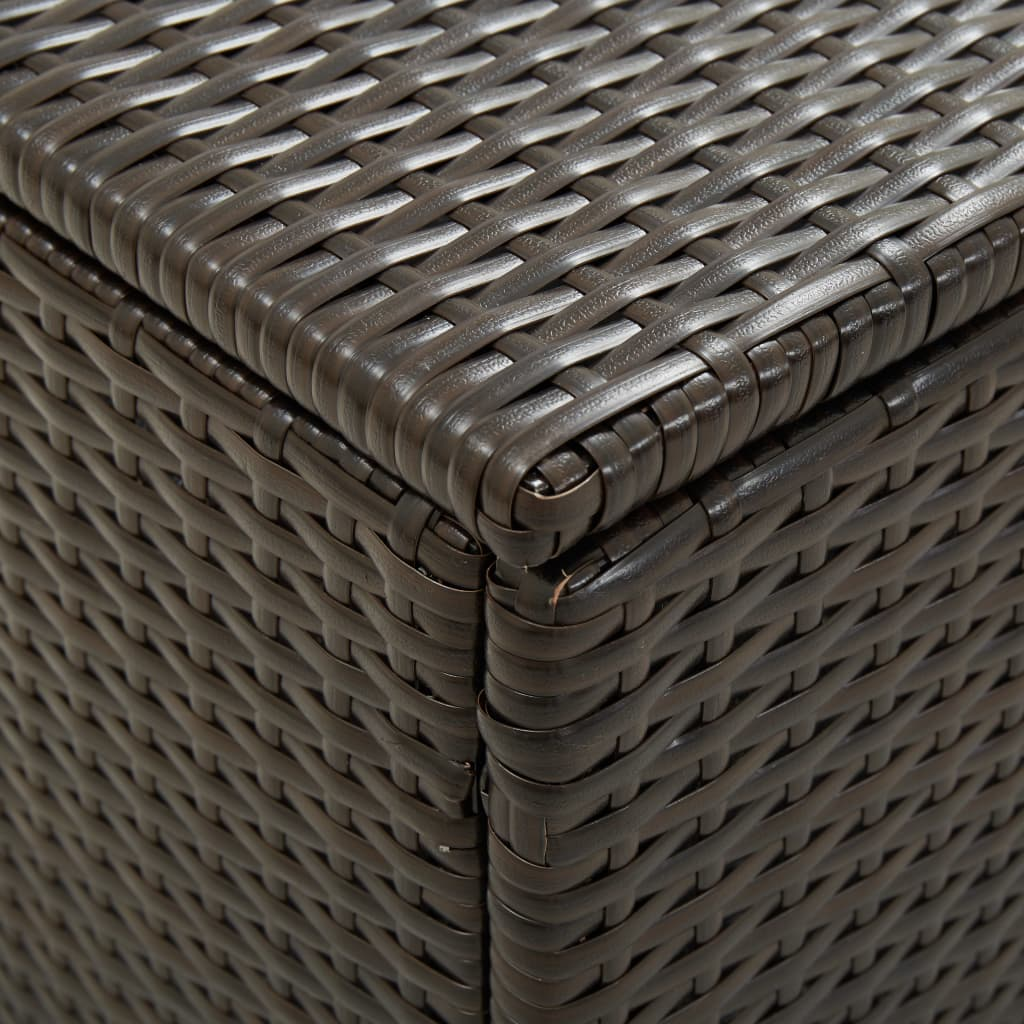 Garden Storage Box Poly Rattan 200x50x60 cm Brown 2
