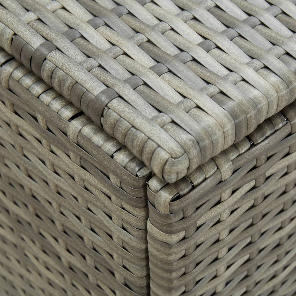 Garden Storage Box Poly Rattan 180x90x75 cm Grey 2