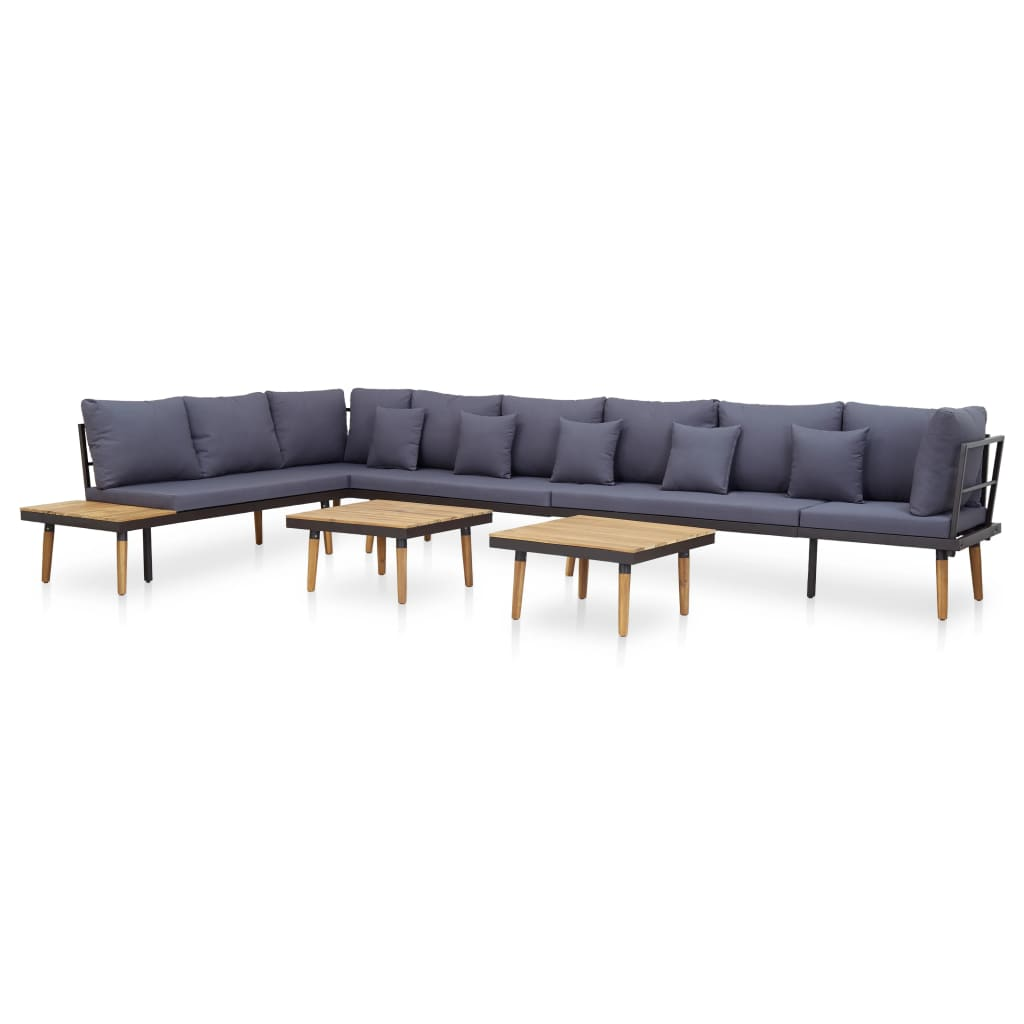 7 Piece Garden Lounge Set with Cushions Solid Acacia Wood