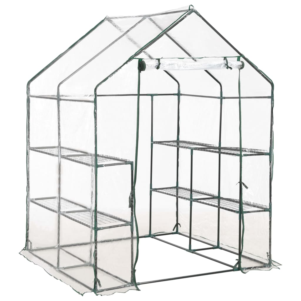 Greenhouse with 8 Shelves 143x143x195 cm 2