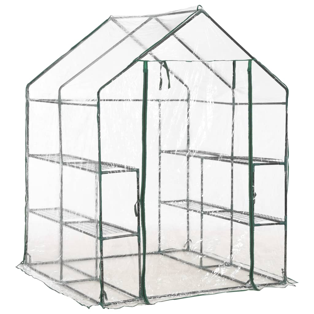 Greenhouse with 8 Shelves 143x143x195 cm 3