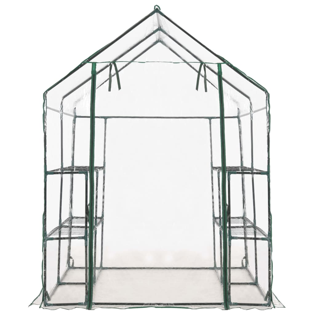 Greenhouse with 8 Shelves 143x143x195 cm 4