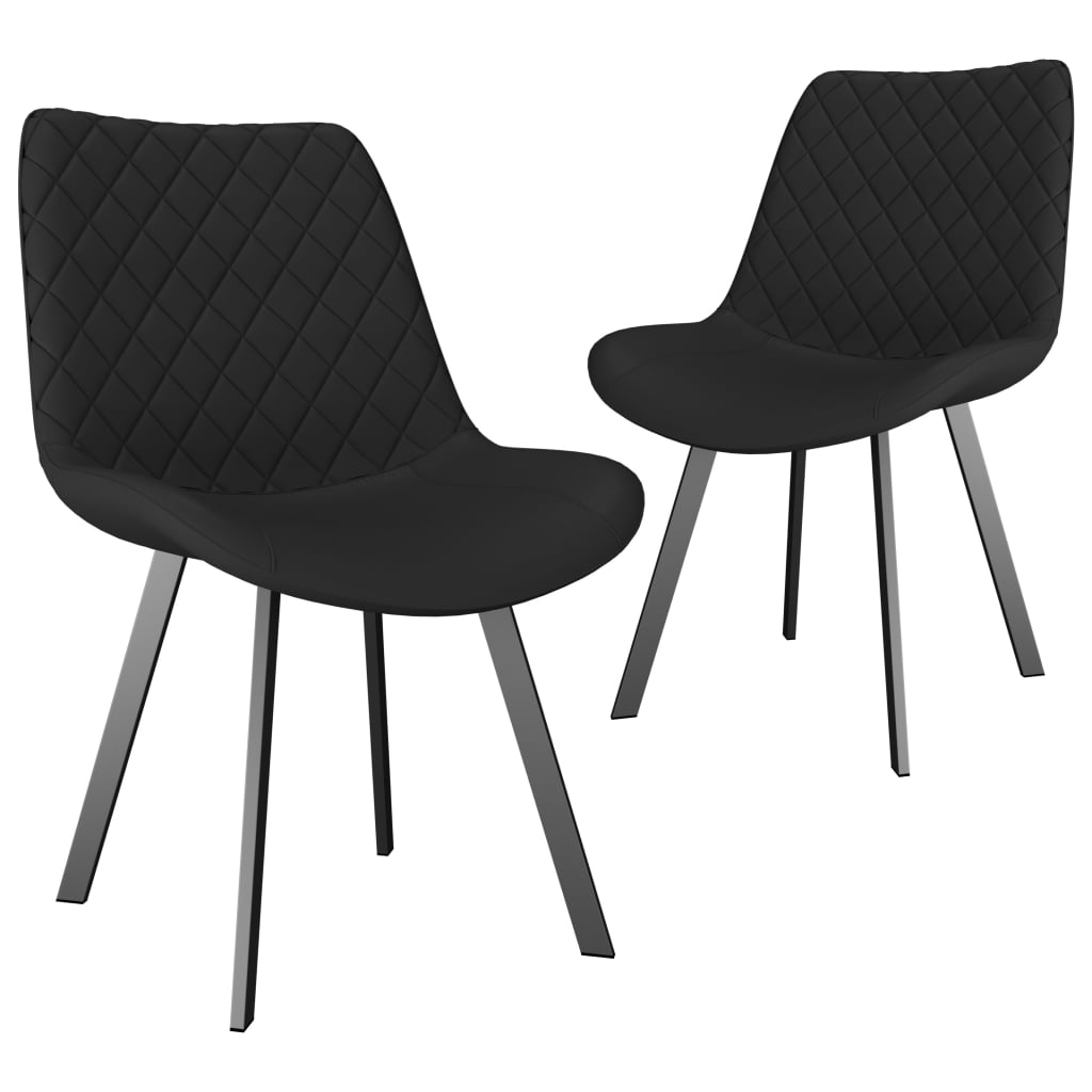 Dining Chairs 2 pcs Grey Faux Leather 1