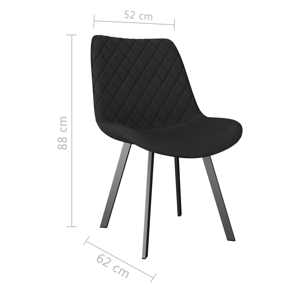 Dining Chairs 2 pcs Grey Faux Leather 7