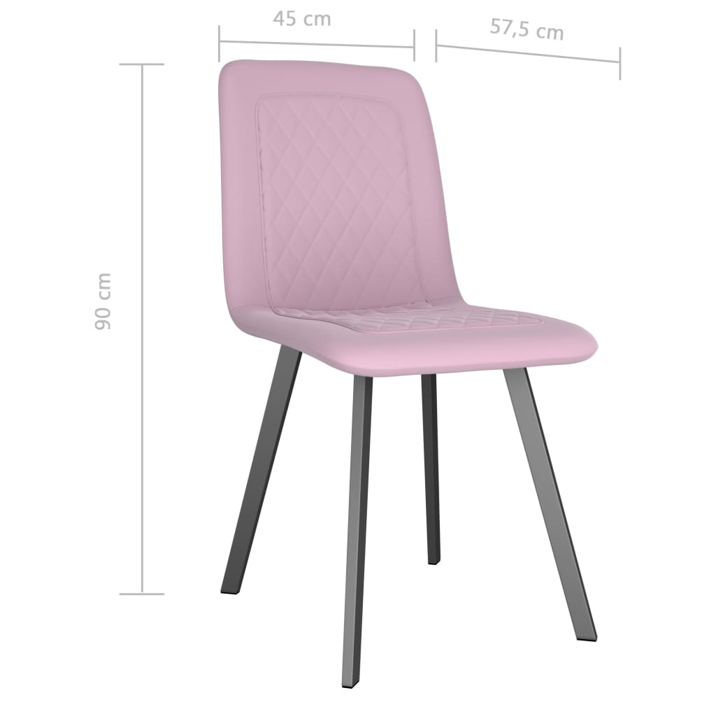Dining Chairs 2 pcs Pink Velvet 7