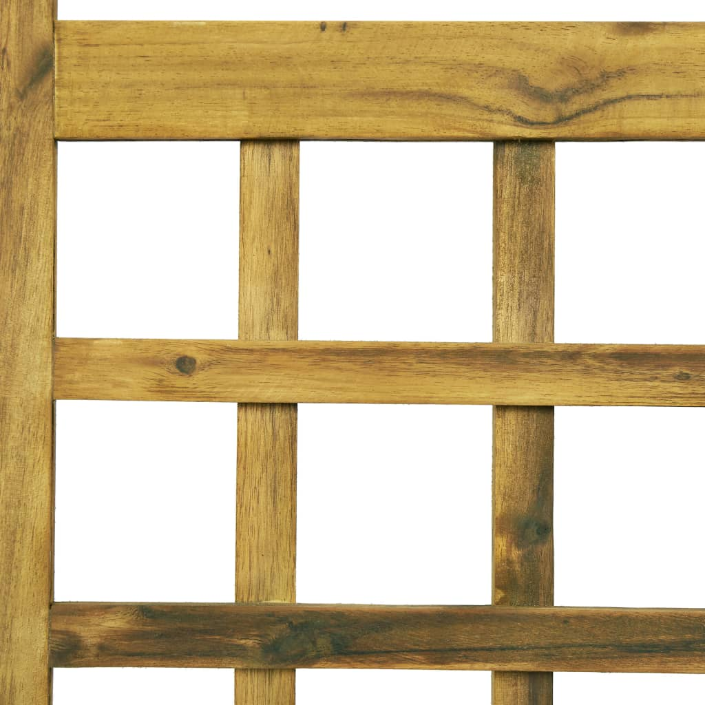 3-Panel Room Divider/Trellis Solid Acacia Wood 120×170 cm 5