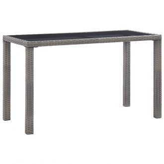 Garden Table Anthracite 123x60x74 cm Poly Rattan 1