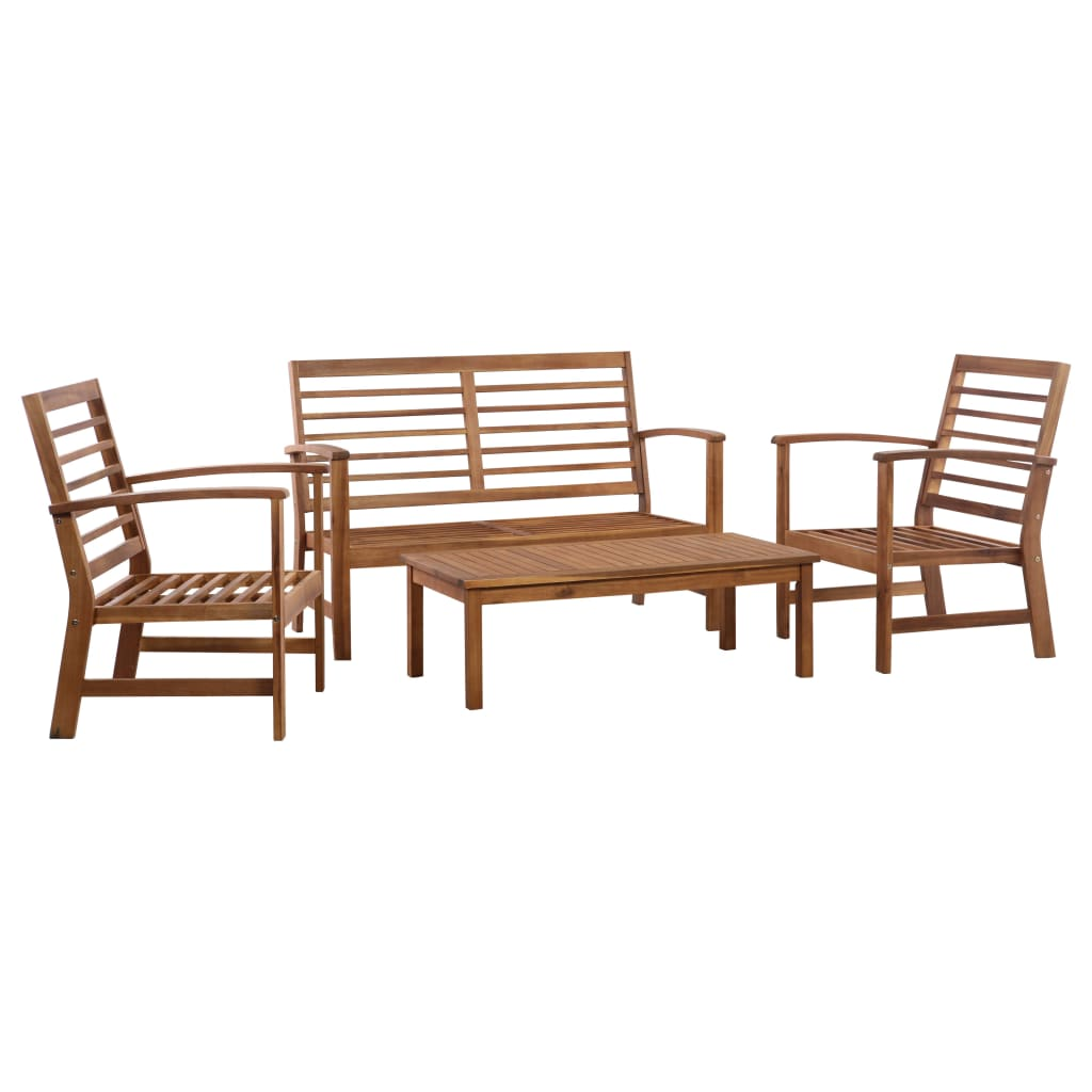 4 Piece Garden Lounge Set Solid Acacia Wood 1