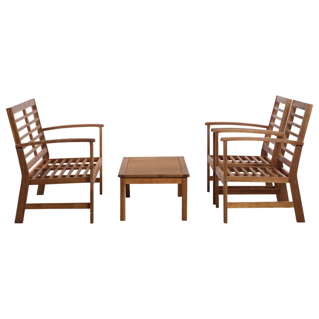 4 Piece Garden Lounge Set Solid Acacia Wood 3