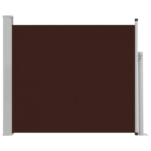 Patio Retractable Side Awning 100×300 cm Brown 2