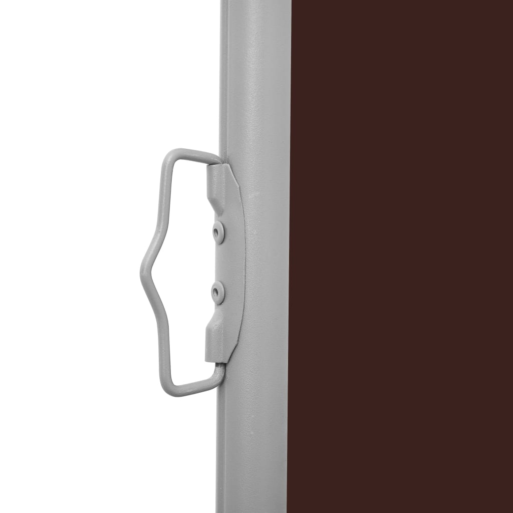Patio Retractable Side Awning 100×300 cm Brown 4