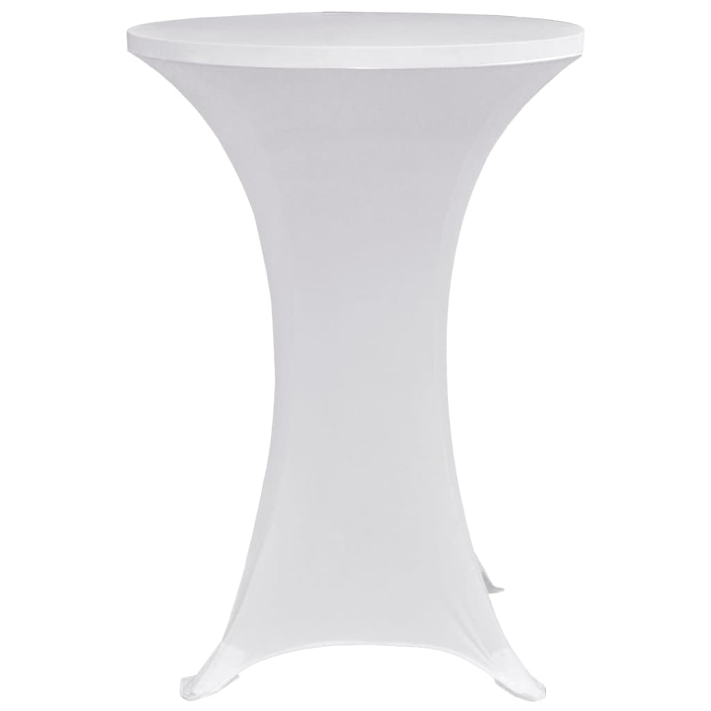 Standing Table Cover Ø70 cm White Stretch 4 pcs 4