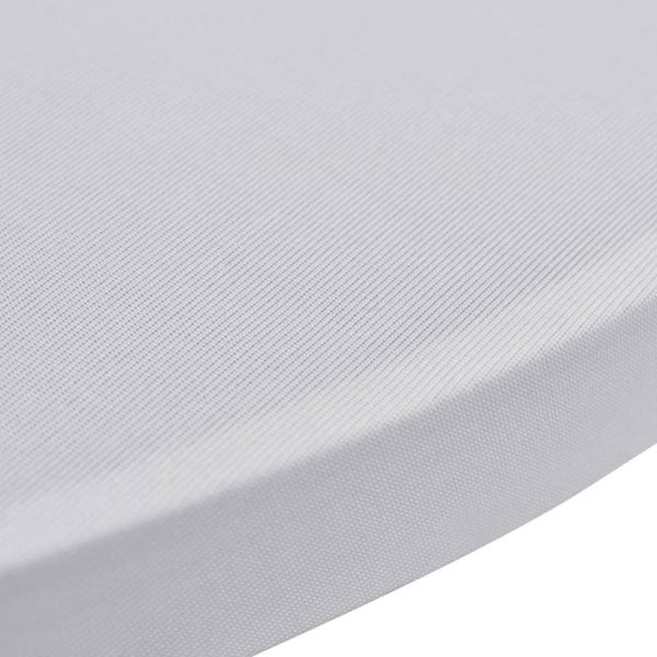 Standing Table Cover Ø70 cm White Stretch 4 pcs 5