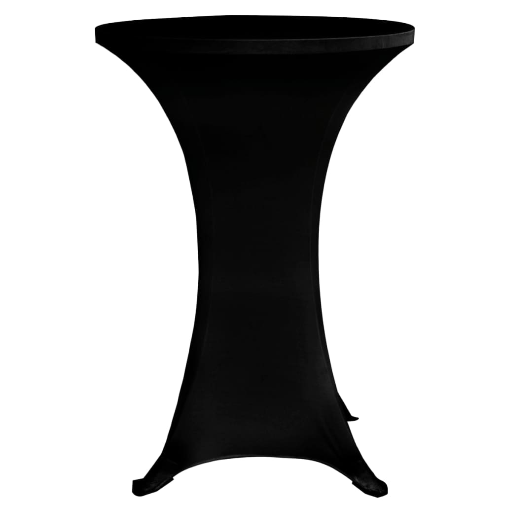 Standing Table Cover Ø70 cm Black Stretch 4 pcs 4