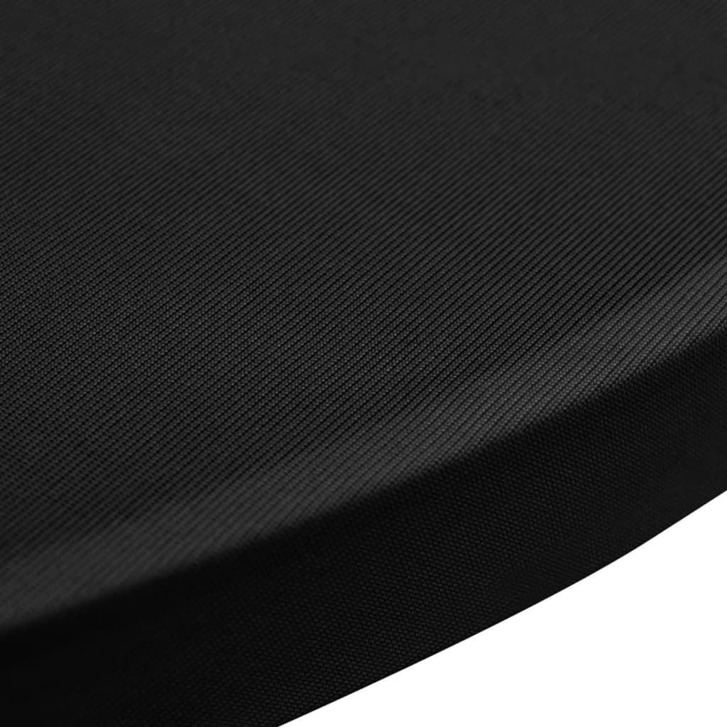 Standing Table Cover Ø70 cm Black Stretch 4 pcs 5