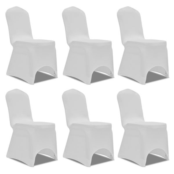 Chair Cover Stretch White 12 pcs 2