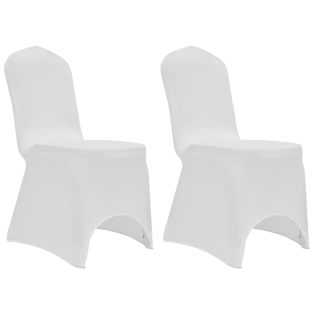 Chair Cover Stretch White 12 pcs 3
