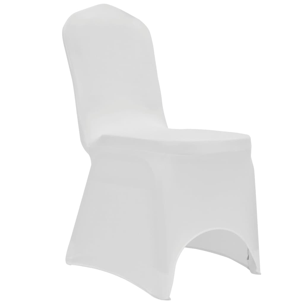 Chair Cover Stretch White 12 pcs 4