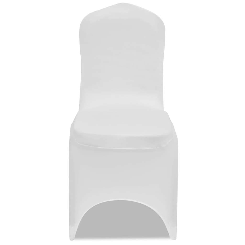 Chair Cover Stretch White 12 pcs 5