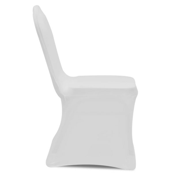 Chair Cover Stretch White 12 pcs 6