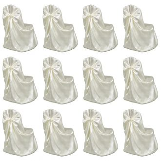 Chair Cover for Wedding Banquet 12 pcs Cream 1