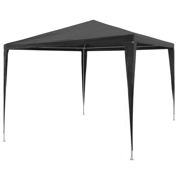 Party Tent 3×3 m PE Anthracite 1