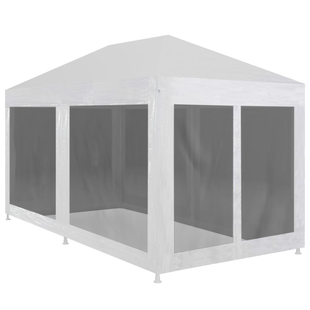Party Tent with 6 Mesh Sidewalls 6×3 m 1
