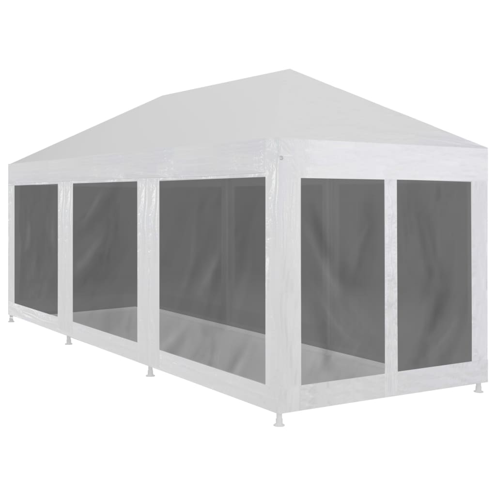 Party Tent with 8 Mesh Sidewalls 9×3 m 1